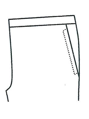 パンツポケットサンプルNo.1